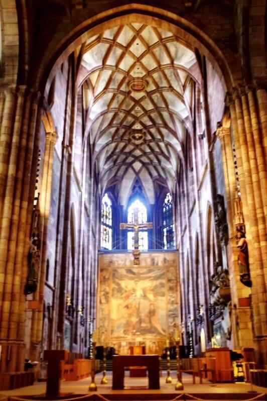 Inside of the Munster in Freiburg