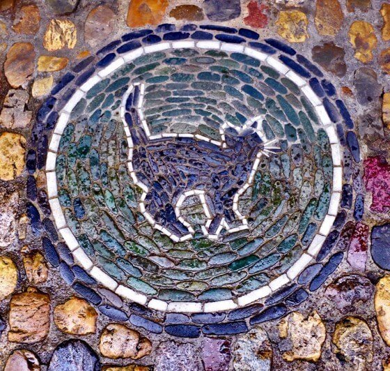 Things to do in Freiburg Germany mosaic cat