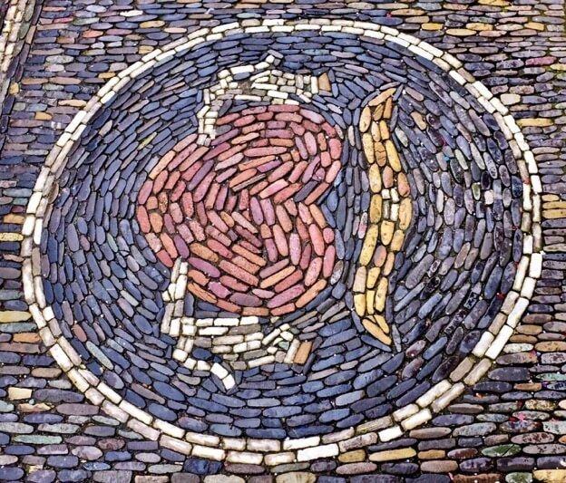 Mosaic Heart in Hands Freiburg
