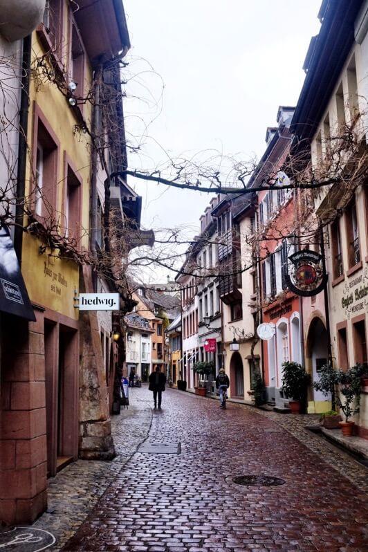Romantic alley in Freiburg