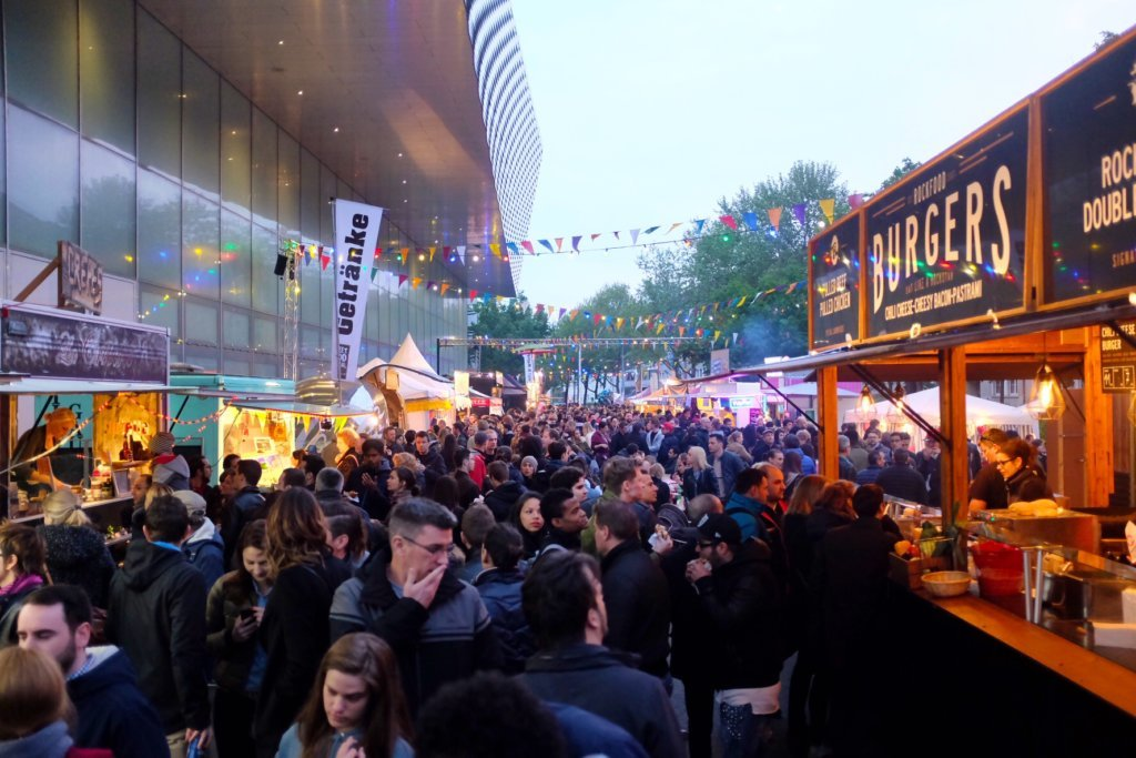 There is always a big crowd at the Street Food Festival Basel