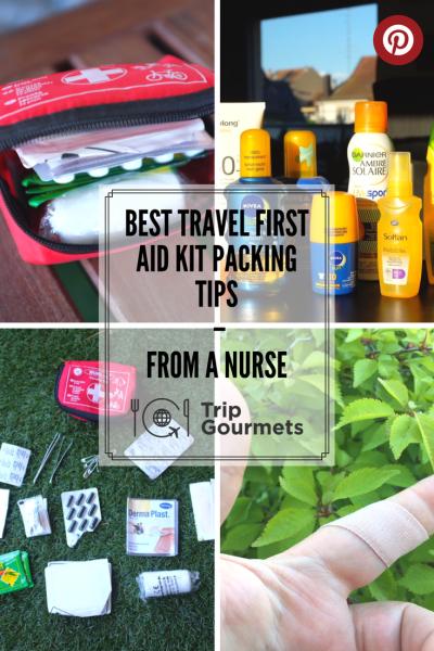 best travel first-aid kit Pinterest Trip Gourmets