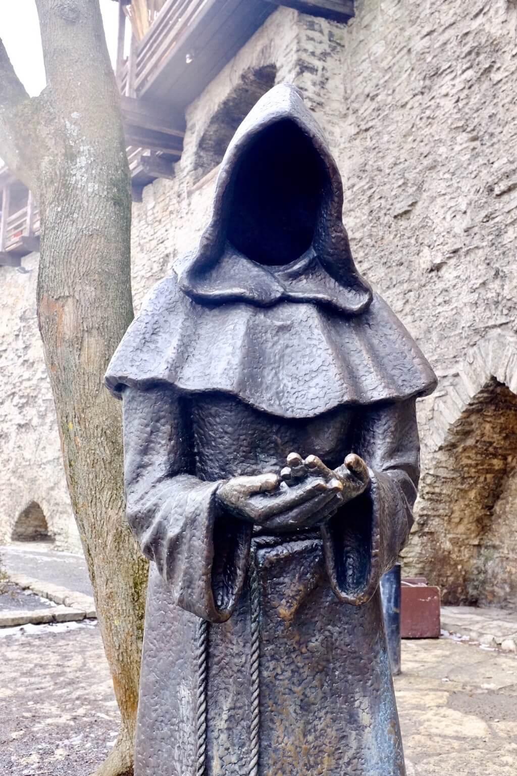 Mysterious monk as seen on a weekend in Tallinn
