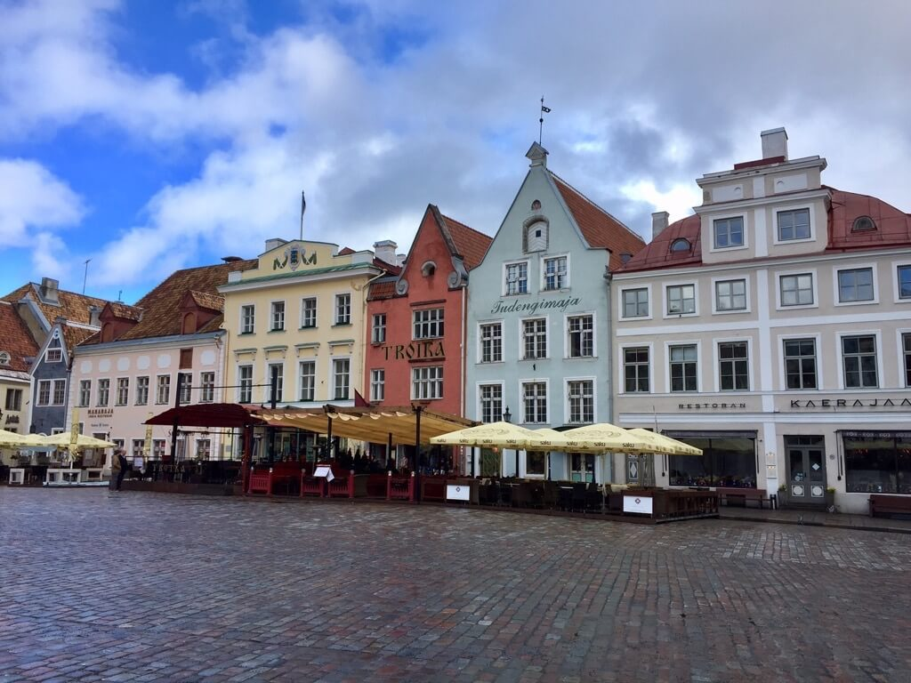 Town hall square Tallinn restaurants