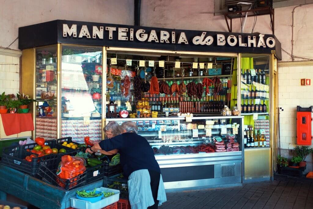 Foodie highlights of Porto, food stall, market