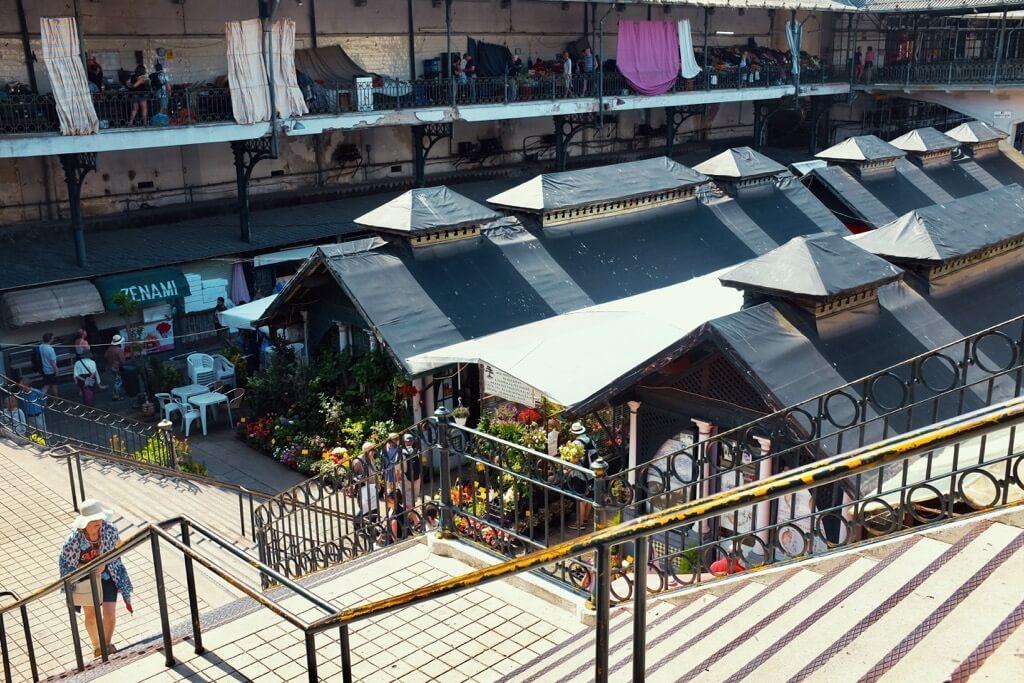Three days in Porto .The roofs of the Mercado do Bolhão