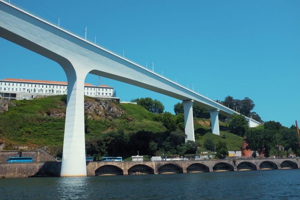 Three days in Porto . White modern bridge