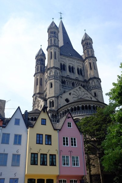 things to do in Cologne in one day Gross St.Marin church view