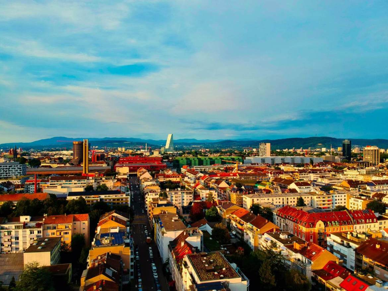 Basel neighbourhood DJI drone shot best cameras for travel photography