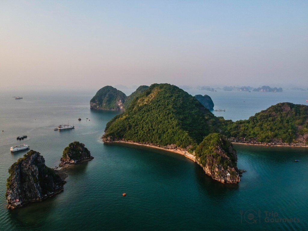 Halong bay cruise review drone island dji spark