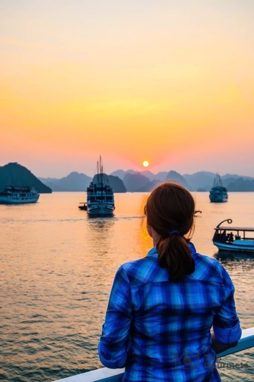 Halong bay cruise review sunset Trip Gourmets