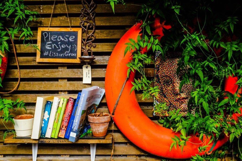 Tripgourmets Walking Regents Canal Lisson Grove Bookshelf