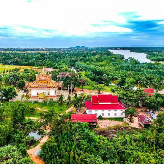 This is the Toek Vil Pagoda in Kampot Cambodia Itshellip