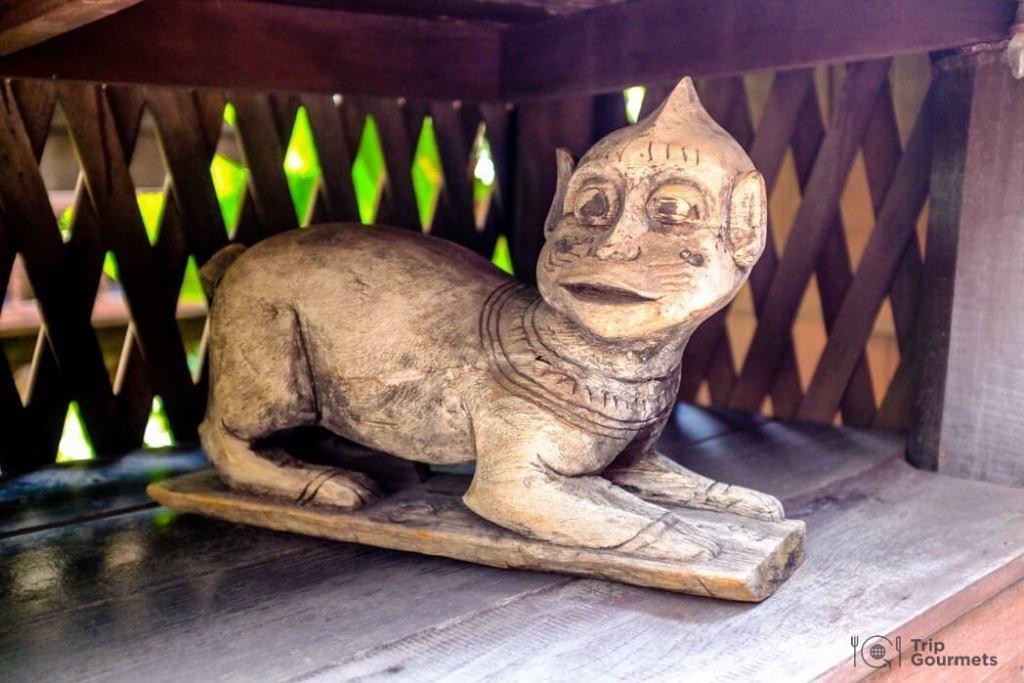 Kamthieng House Sukhumvit Bangkok traditional Lanna building sculpture animal