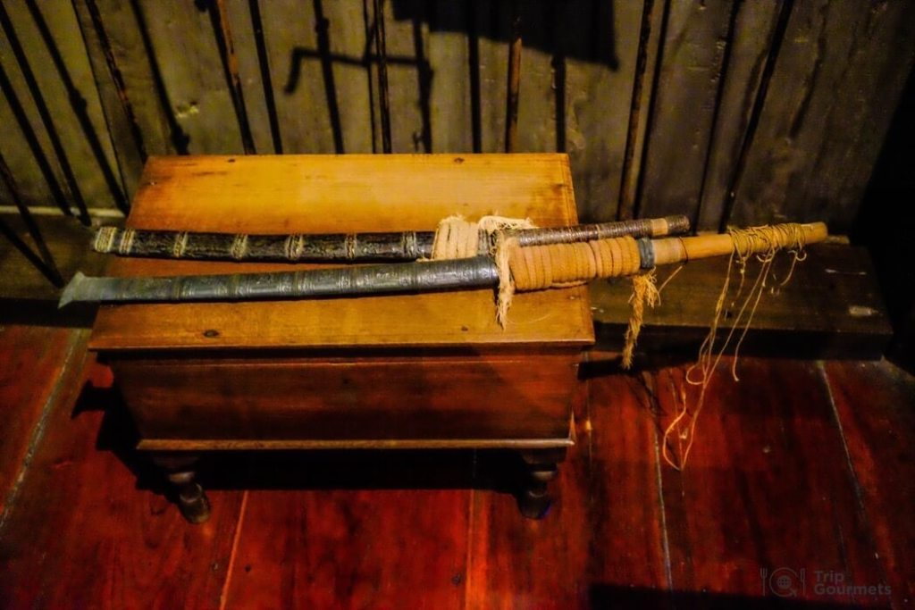 Kamthieng House Sukhumvit Bangkok traditional Lanna building sword