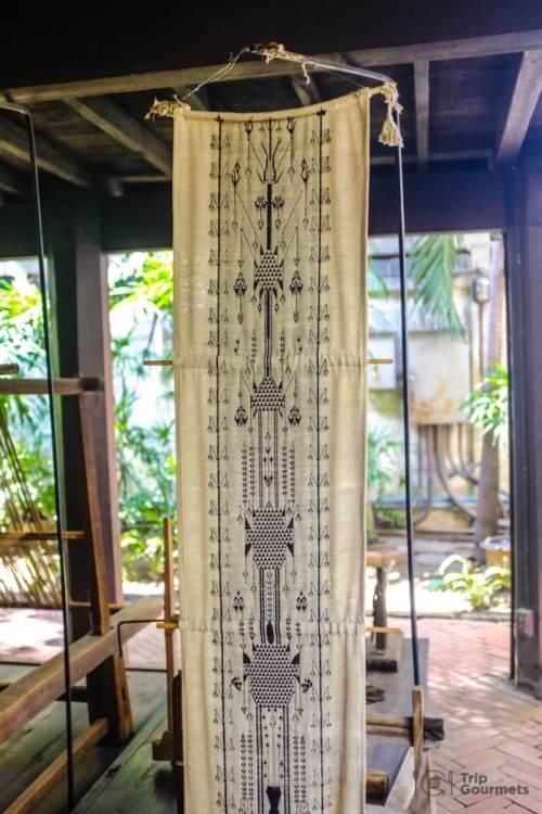 Kamthieng House Sukhumvit Bangkok traditional Lanna building tung banner woven