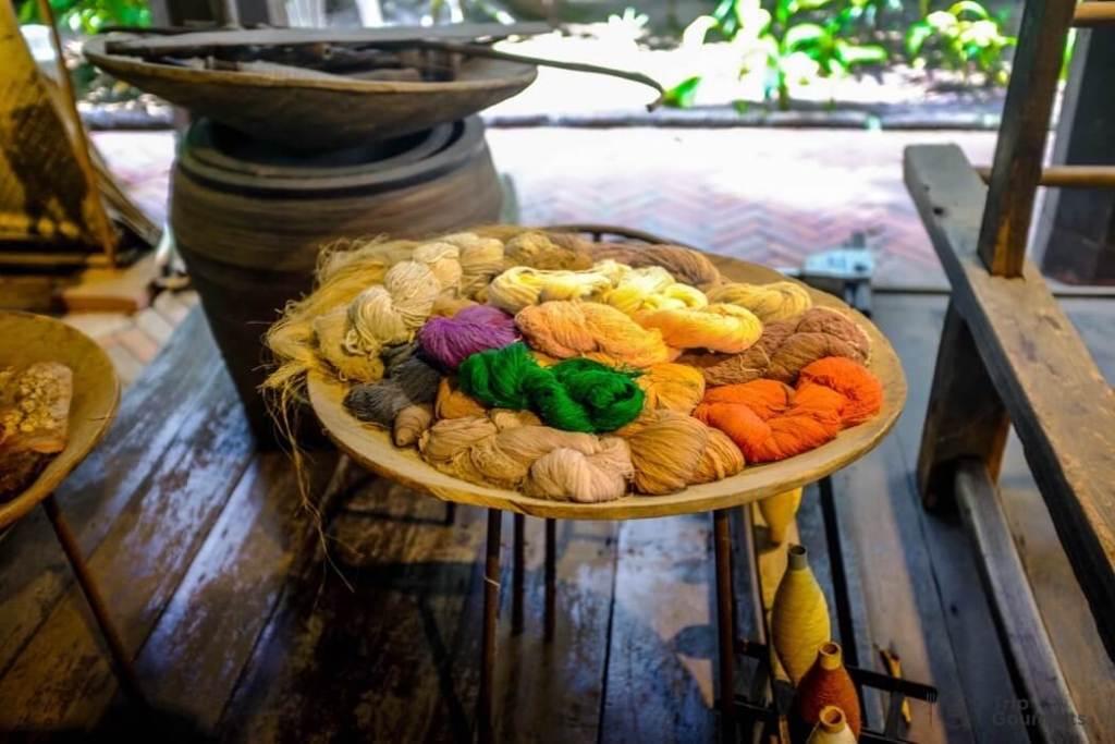 Kamthieng House Sukhumvit Bangkok traditional Lanna building dye yarn