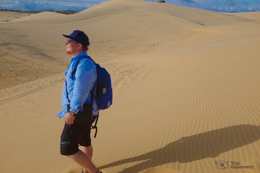 Things to do in Mui Ne Muine White Dunes man