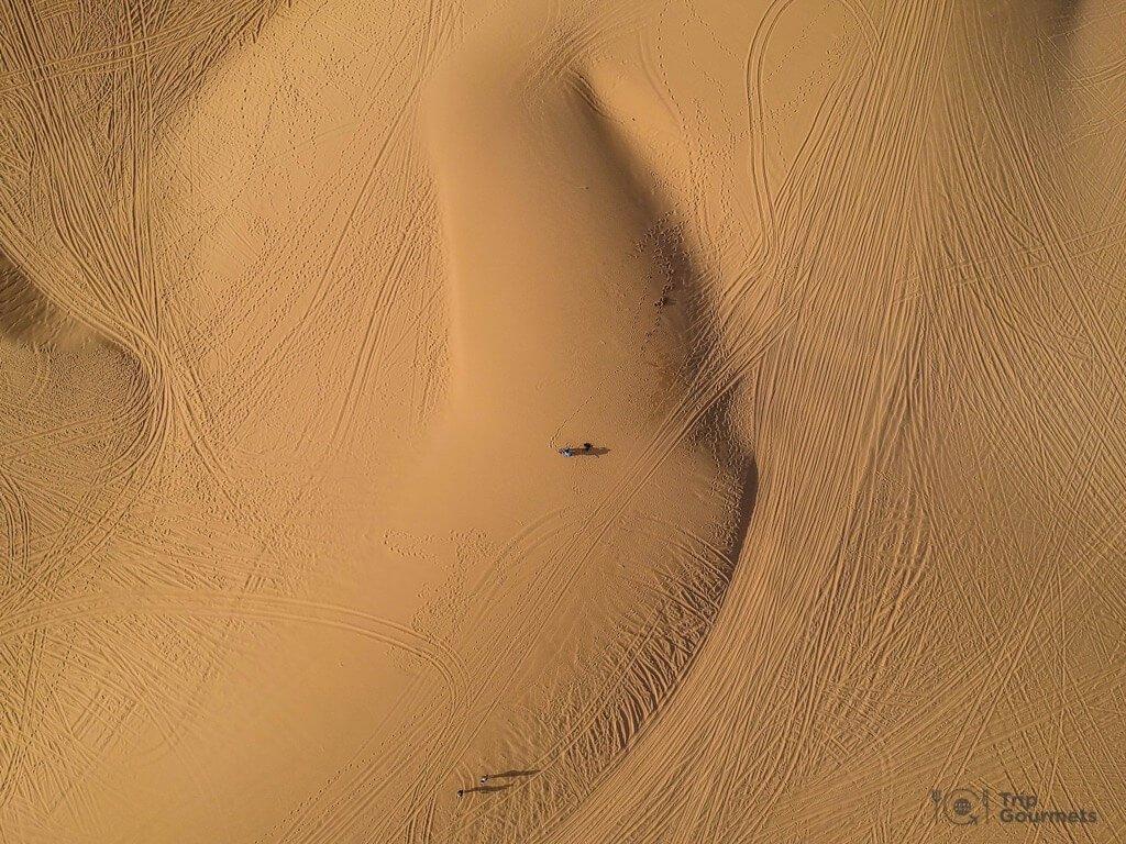 Things to do in Mui Ne Muine White dunes drone footage sand desert