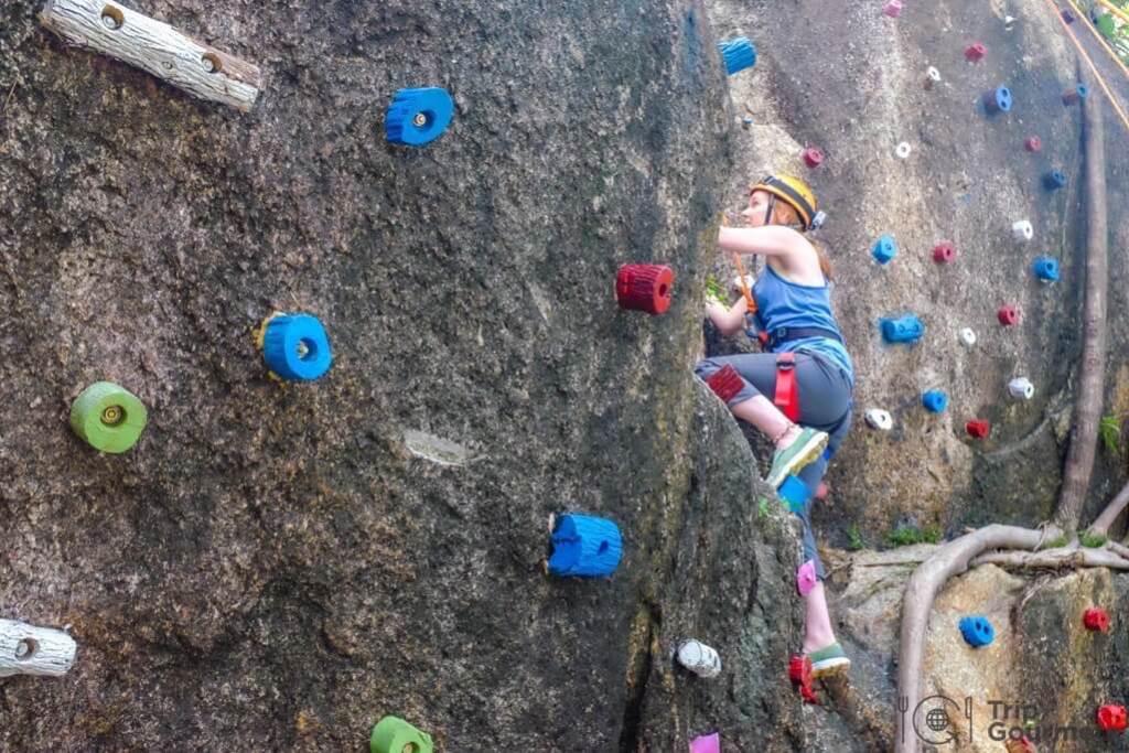 Activities Koh Samui climbing rock robes wall