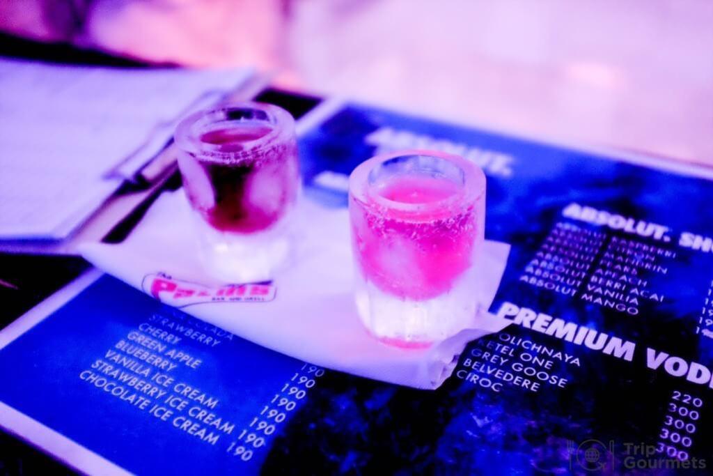 Activities Koh Samui absolut ice bar shot glasses ice