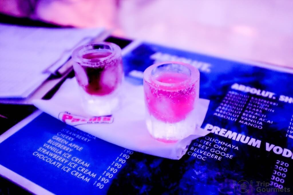 Activities Koh Samui absolut ice bar shot glasses ice
