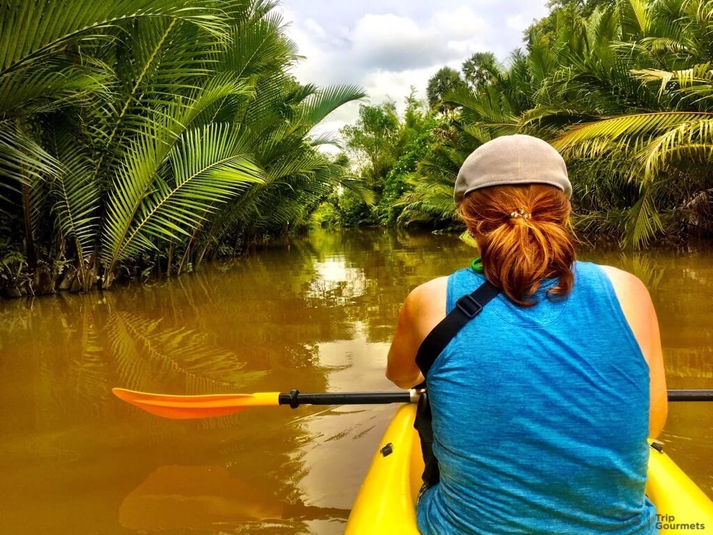 Things to do in Kampot cambodia river kayak Kayaking Green Cathedral