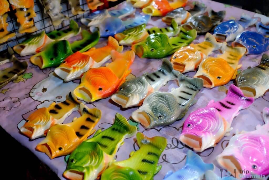 Best Markets in Bangkok JJ Green fish shoes