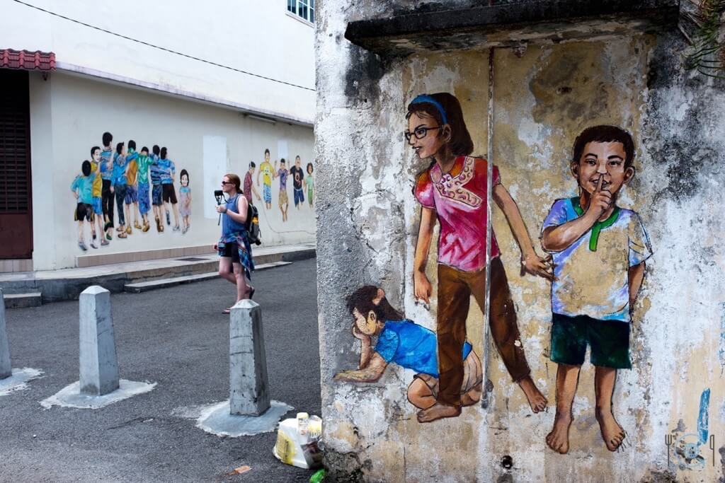 Things to do in Ipoh Whispering Kids Street Art