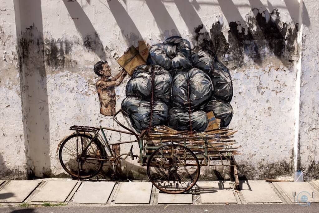 Things to do in Ipoh Zacharevic Street Art Trishaw