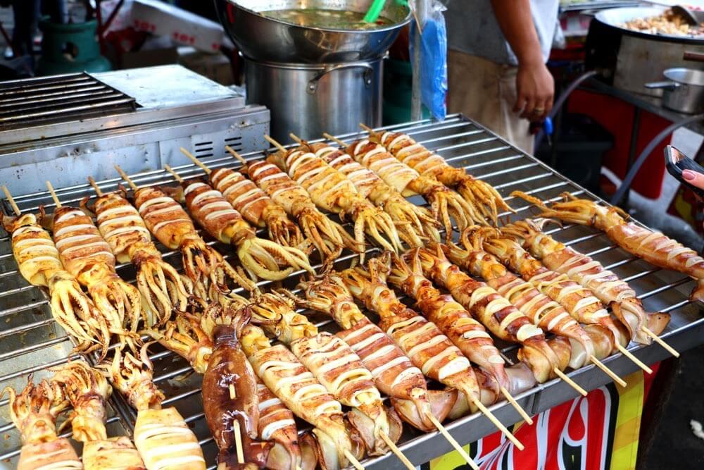best street food in asia grilled octopus