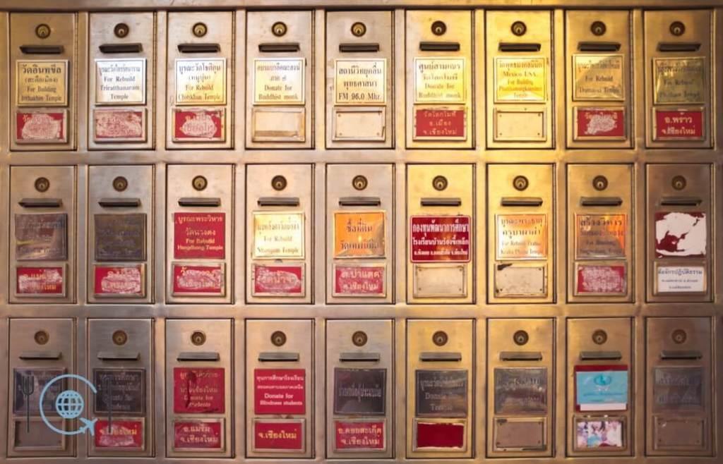 Chiang Mai Itinerary Doi Suthep donation boxes