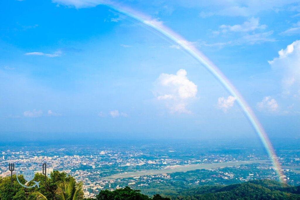 Chiang Mai Itinerary Doi Suthep rainbow