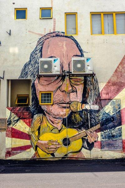 Kuala Lumpur Itinerary Street Art Guitar