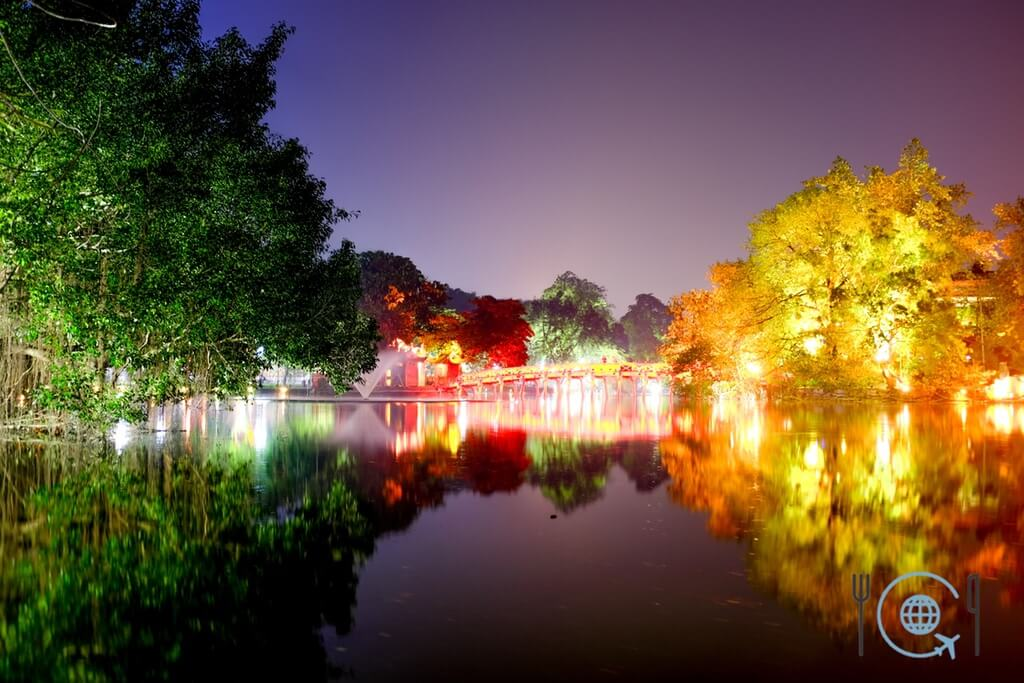 Vietnam 3 week itinerary Hanoi Hoan Kiem Lake