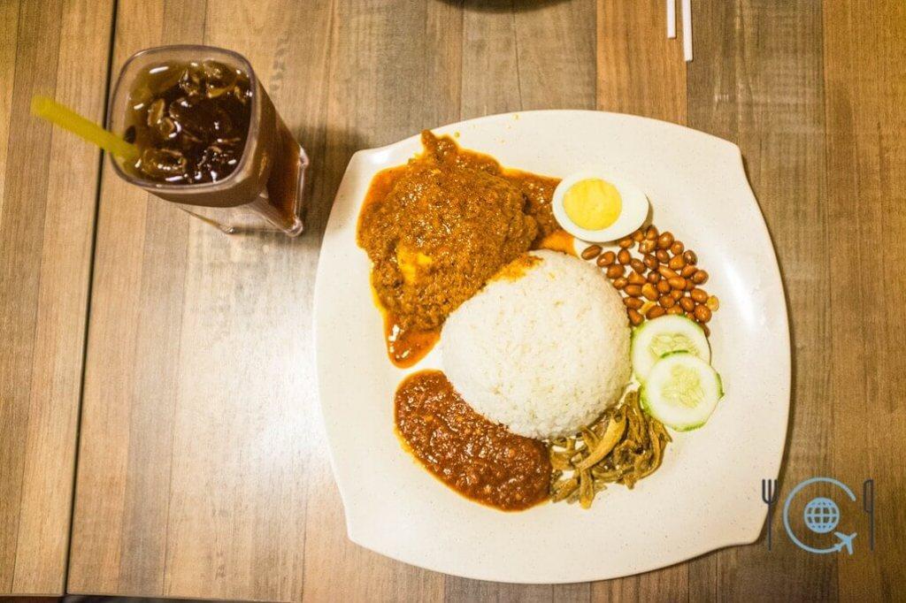 Best Hawker Food in Penang Nasi Lemak Rendang
