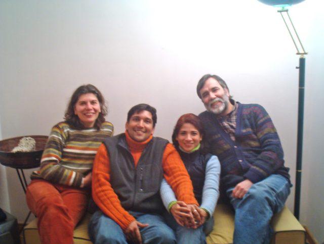 Monica y Lucho, anfitriones en Santiago