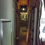 Pasillos del vagón habitación TransCanadien