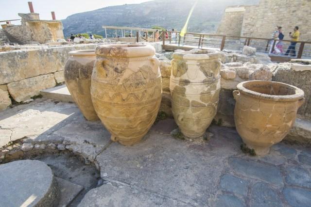 vasijas de comercio Knosos