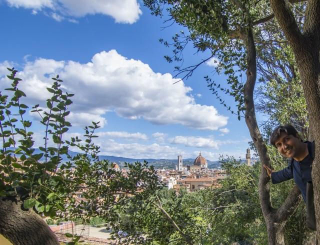 Ciudad de Florencia a lo lejos Pitti