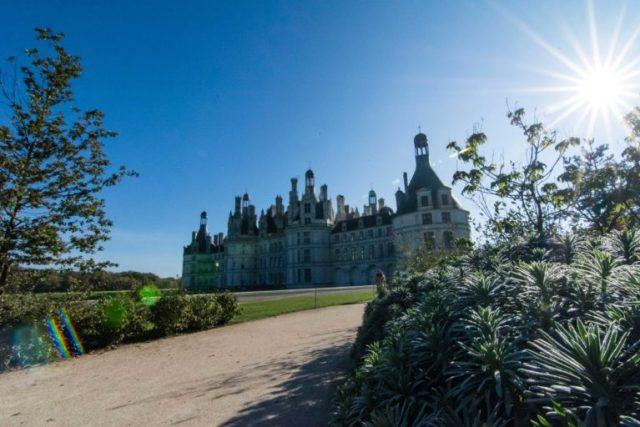 Fachada lateral Castillo Chambord