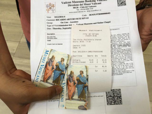 Entradas oficiales Museos Vaticanos