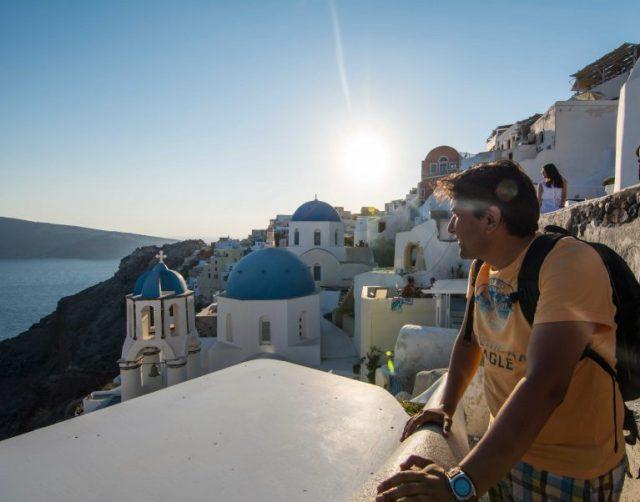Disfrutando del Santorini