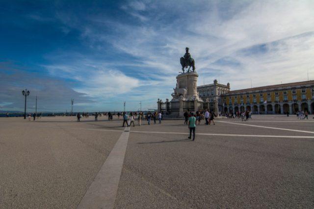 Plaza de Comercio Lisboa vista al Tajo