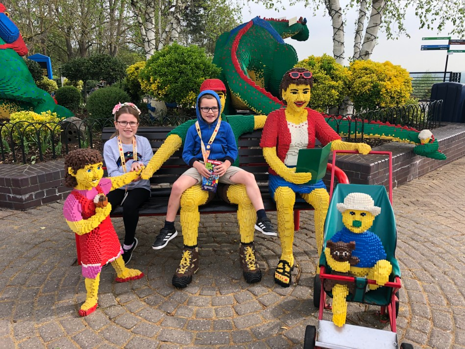 Meeting the family at Legoland Windsor