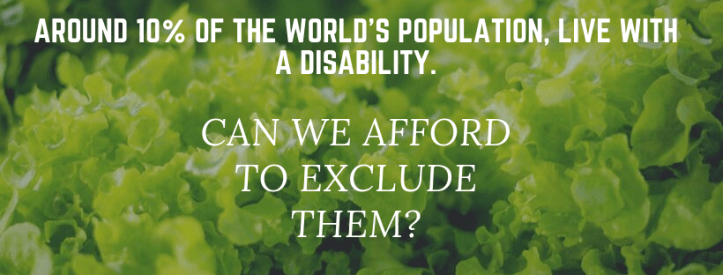 around 10% of the world's population, live with a disability.
