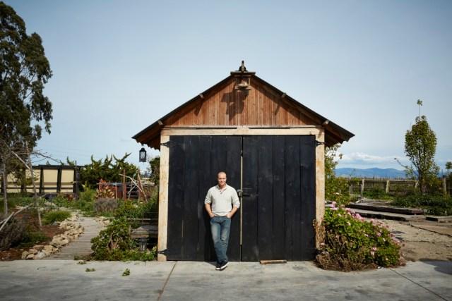 Bryan Davis of Lost Spirits Distillery outside his lab in Monterey, Ca.  GABRIELA HASBUN/WIRED