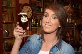 No Reproduction Fee Niamh Lynch, Glanmire, pictured at the launch of the Franciscan Well Jameson-Aged Pale Ale. Pic John Sheehan Photography