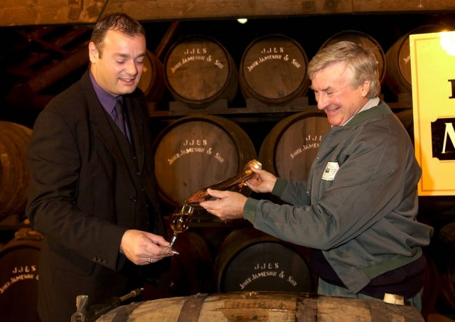 Midleton Whisley, 2001 Midleton Very Rare Ray Dempsey General Manager Irish Distillers trys out the new Batch with Billy Lee Master Copper Picture: Gerard McCarthy  (digi)