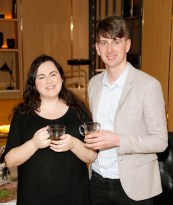 no fee if The River Lee mentioned in caption The River Lee Unveils their Local Taste Toddies on the Terrace Menu Donna Parsons and Pierce Lowney at The River Lee's Local Taste Toddies on the Terrace event -photo Kieran Harnett The River Lee Hotel showcase their special Local Taste Toddies on the Terrace menu to be enjoyed during the Christmas and Winter season, which brings together the best local artisan product offerings across food and drink. Visit The River Lee to enjoy Toddies on the Terrace this winter season. For further information, please contact Donna Parsons, Edelman: Email: Donna.Parsons@edelman.com Phone: 01 678 9333| 087 650 1468